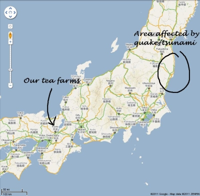Japanese Earthquake Area