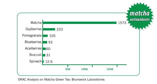 Matcha Antioxidants Comparison